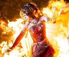 Качественный японский косплей героини Final Fantasy VI