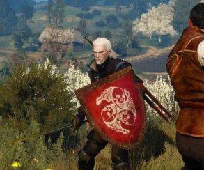 Неканон! Мод для The Witcher 3 позволяет Геральту носить щиты