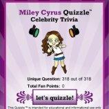 Скриншот Miley Cyrus Quizzle