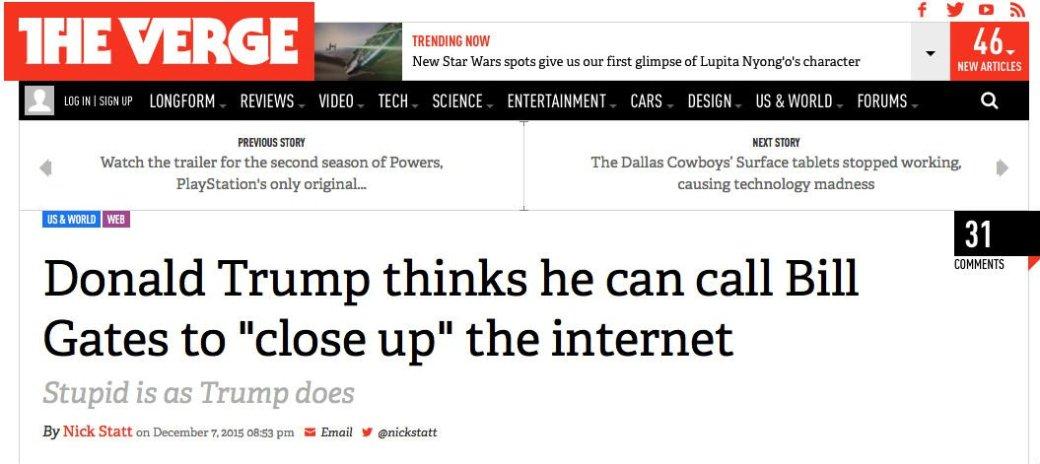 Кандидат в президенты США предложил «закрыть интернет». - Изображение 1