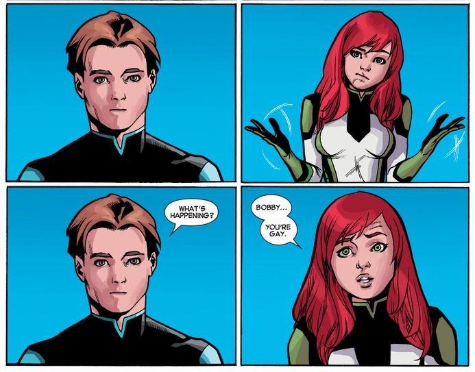 Как Marvel сменили сексуальную ориентацию Бобби «Айсбергу» Дрейку - Изображение 3