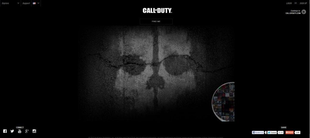 Запущен сайт Call of Duty: Ghosts. - Изображение 1