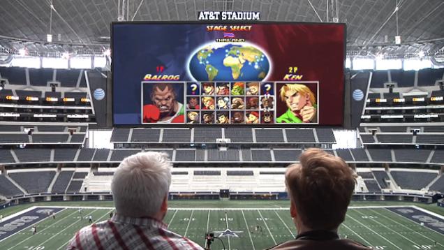 Телеведущий Конан О'Брайен сыграл в PS4 на экране стадиона  - Изображение 1