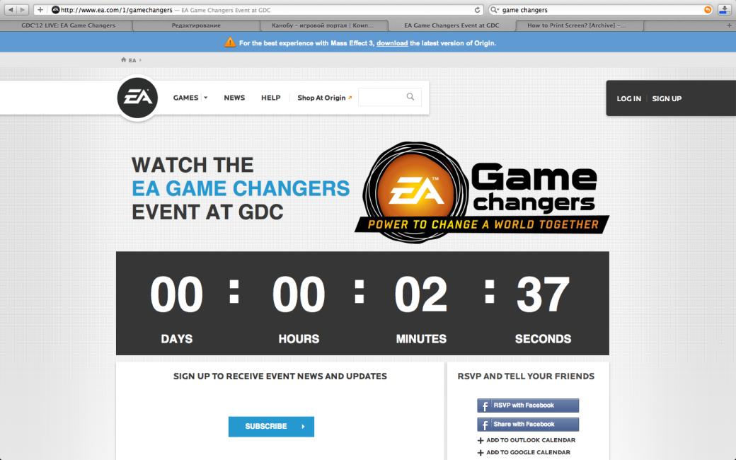 GDC'12 LIVE: EA Game Changers - Изображение 5