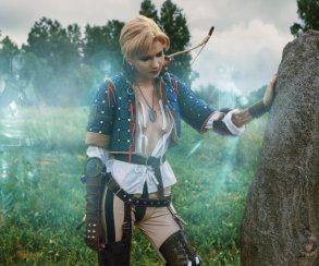 Воительница Бьянка впотрясающем косплее по«Ведьмаку»
