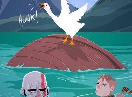 Goose of Tsushima и Days Goose — геймер нарисовал обложки вымышленных DLC для игры про вредного гуся