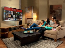 Сервис Netflix опередил по популярности спутниковое ТВ