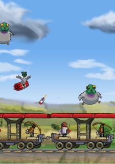 Pigeons on a Train