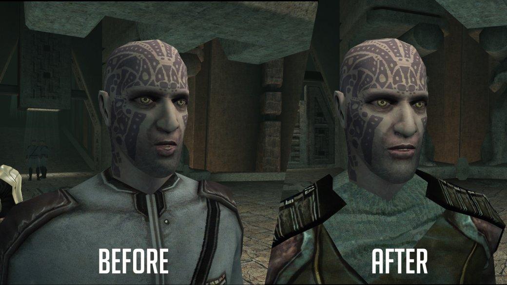 Фанатский мод для Knights ofthe Old Republic значительно улучшает внешний вид персонажей | Канобу - Изображение 4