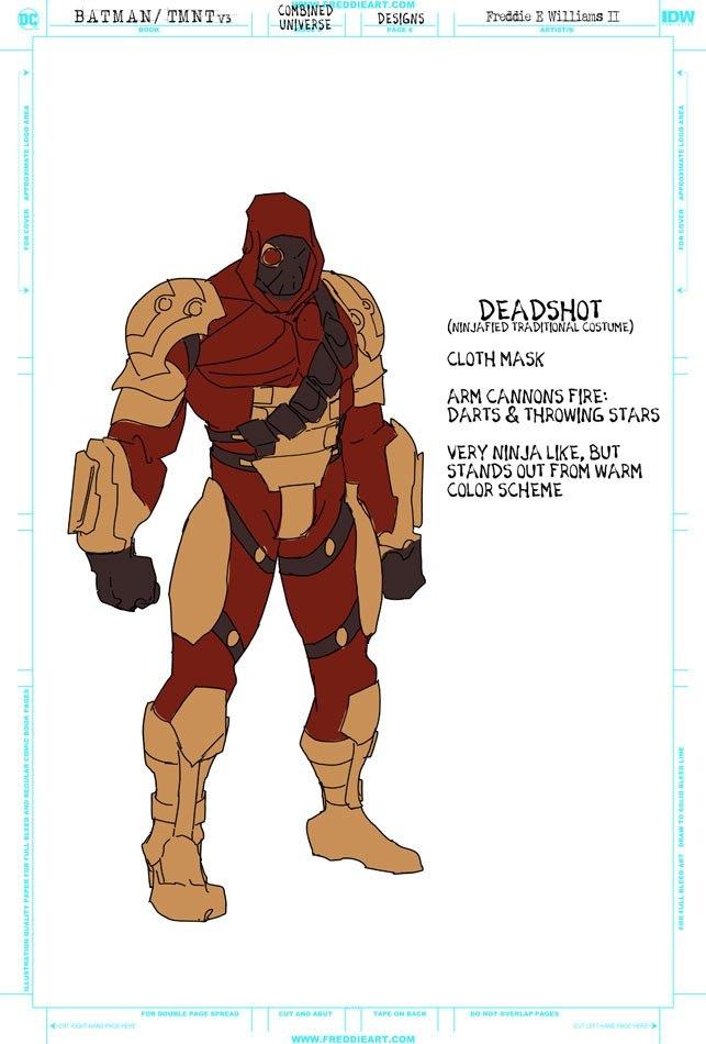 Втретьем кроссовере Черепашек-ниндзя иБэтмена появятся гибриды героев. Например, Найтвинг-Леонардо   Канобу - Изображение 7269