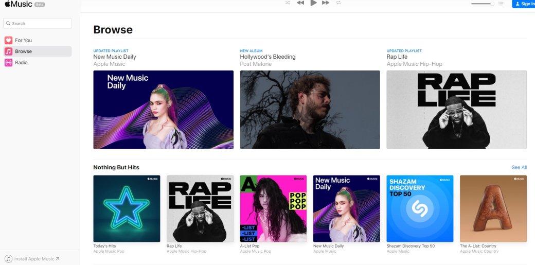 Apple запустила браузерную версию Apple Music | Канобу - Изображение 2508