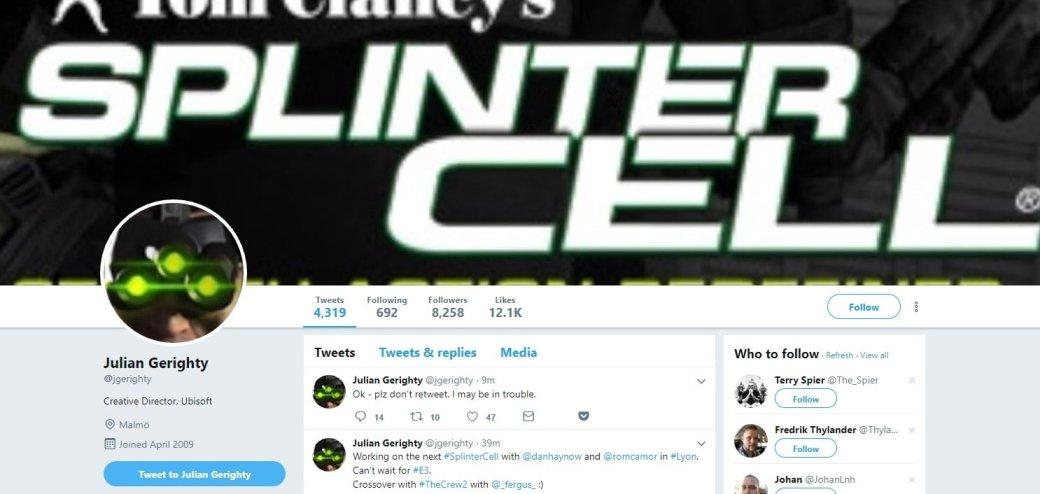 Креативный директор The Division 2 «анонсировал» новую Splinter Cell. Ubisoft сразу все опровергла | Канобу - Изображение 2