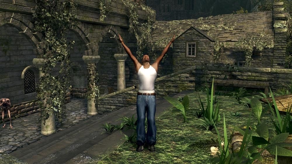 Восславьте Гроув-стрит! Энтузиаст добавил Си-Джея из San Andreas в Dark Souls   Канобу - Изображение 2142