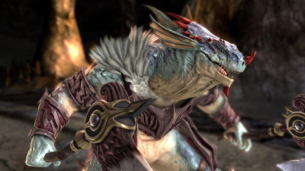 Человек-ящер нещадно избивает своего противника в SoulCalibur VI гигантским пенисом | Канобу - Изображение 1