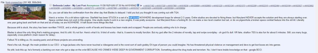 «Fallout 76 убивает нас»— что анонимный разработчик изBethesda рассказал оситуации встудии | Канобу - Изображение 6286