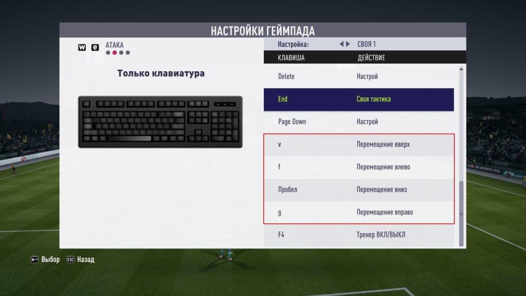 Настройки управления на клавиатуре в FIFA 18: как пробивать и отбивать пенальти и делать финты. - Изображение 4