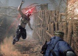 Строительство базы исбрасывание зомби собрыва вновом геймплейном ролике Metal Gear Survive